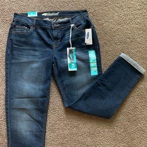 NEW Old Navy Boyfriend Cuffed Blue Jeans